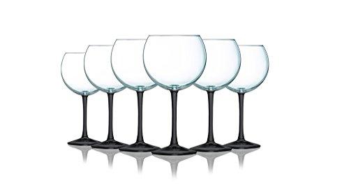 Black Stem Wine Glass - 8