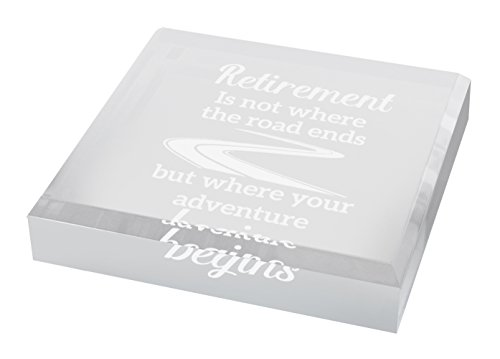 Retirement Gifts for Men Where Adventure Begins Retirement Gifts for Dad Retirement Gifts Engraved Acrylic Keepsake Paperweight Plaque