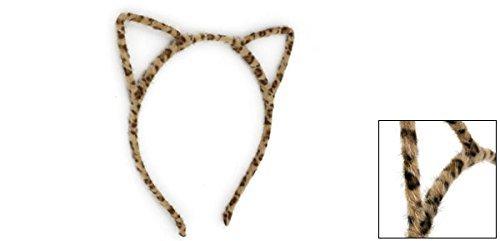 Amazon.com: eDealMax Leopardo del oído del gato impresión Detallando muchacha del Pelo del ARO Cinta de cabeza, Brown, 0,04 la Libra: Health & Personal Care