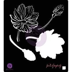 Bulk Buy: Prima Marketing (3-Pack) Jamie Doughtery Bloom Stencil 6in. x 6in. Anenome BLSTN66-80368 by Prima Marketing