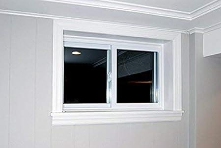 White Park Ridge VBSI3216PR Vinyl Basement Slider Window Renewed 32 x 16