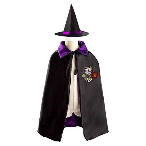 69PF-1 Halloween Cape Matching Witch Hat Fashion Zombie