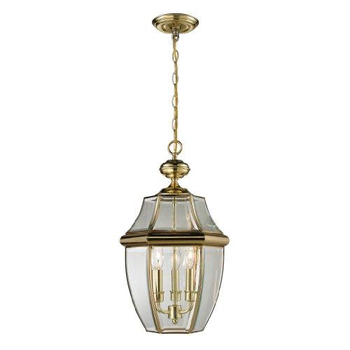 Cornerstone Lighting 8603EH/85 Ashford 3 Light Exterior Hanging Lantern, Antique (Antique Brass Pendant Lantern)