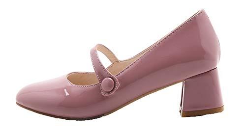 di Flats Punta Pelle AllhqFashion Maiale Chiusa Donna Ballet Tirare Puro Rosa FBUIDD006825 EUwqq5zx