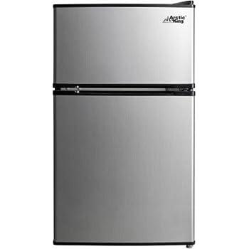 Arctic King 3.2 cu ft 2-Door Compact Refrigerator, Stainless Steel Look