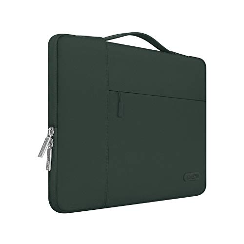 MOSISO Laptop Sleeve Compatible with 13-13.3 inch MacBook Air, MacBook Pro, Notebook Computer, Polyester Multifunctional Briefcase Bag, Midnight Green
