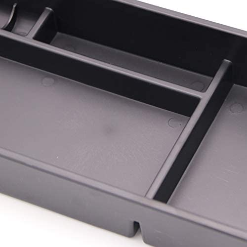Bishop Tate Black Plastic Center Console Armrest Storage Glove Box Tray Container Organizer for Infiniti QX50 2013-2017