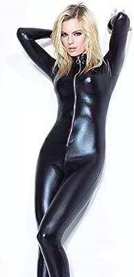 GZxiang Mono elástico de la Mujer Latex Catsuit Sexy ...