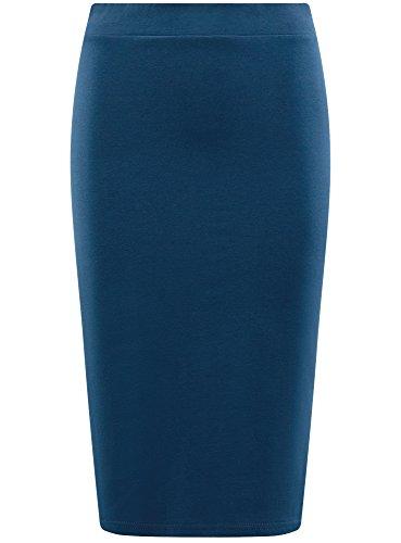 oodji 7901n Jupe Femme Crayon Ultra Basique Bleu 7Urq7a