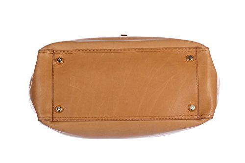 Lanvin sac à main femme en cuir bowling marron
