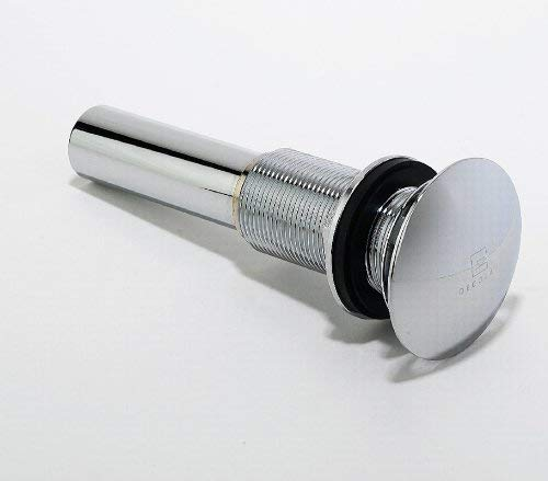 DECOLAV 9290-CP Decorative Non-Closing Umbrella Drain without Overflow, Polished Chrome