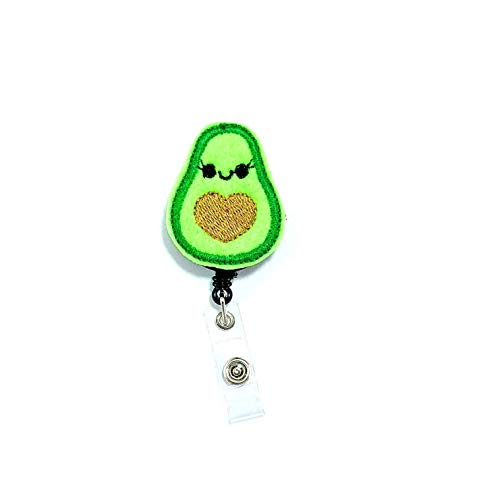 Avocado Retractable Badge Reel Holder Clip