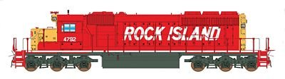 Emd Sd40 2 (EMD SD40-2 NO DYNAMIC BRAKES - STANDARD DC -- ROCK ISLAND (RED, YELLOW, WHITE, BILLBOARD LETTERING))