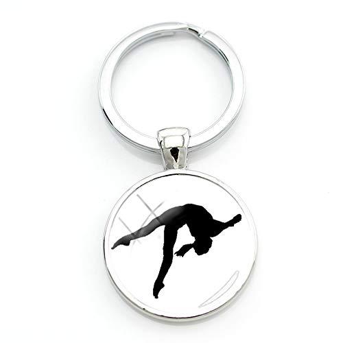 Amazon.com: Mct12-1 Llavero con diseño de gimnasia de club ...