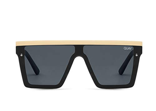 Quay Women's Hindsight with Gold Bar Sunglasses, Black/Gold/Smoke,, used for sale  Delivered anywhere in USA