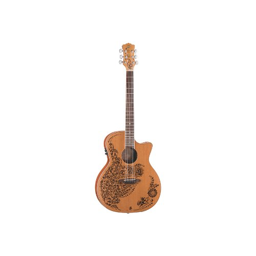 Luna Henna Oasis - Cedar Nylon - 6-String Nylon Acoustic-Electric (Luna Guitars Henna Oasis)