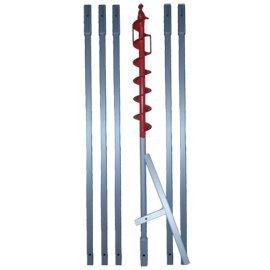 110 mm Erdbohrer verlängerbar  HIER  in 1.1m, 3m, 6m, 8m, 10m, 12m Länge … (** z.B. 6m **)