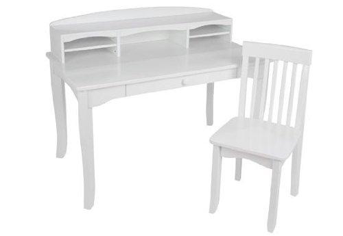 - Avalon Desk with Hutch - White