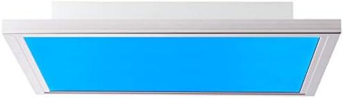 Smarte LED Panel Deckenleuchte per Tuya App steuerbar, mit RGB-Farbwechsellicht, 40x40cm, 29 Watt aus Metall/Kunststoff in nickel
