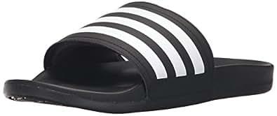 adidas Performance Men's Adilette CF+ C Athletic Sandal, Black/White/Black, 4 M US