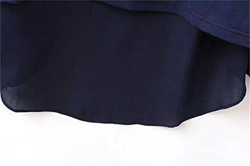 z Blumenkragen Falsche Blau Frauen Langen Aermeln Europe Shirts Weiss Qiyun Zweistuecke