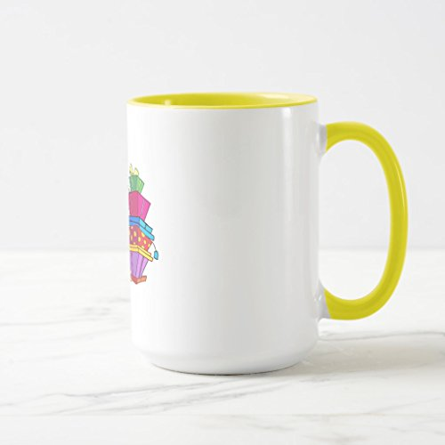 Zazzle 80 Is Good Birthday Tshirts and Gifts Frosted Glass Coffee Mug, Yellow Combo Mug 15 oz (7971 Glass)
