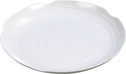 White Terra Displayware Round Melamine Textured Platter - 12 per case ()