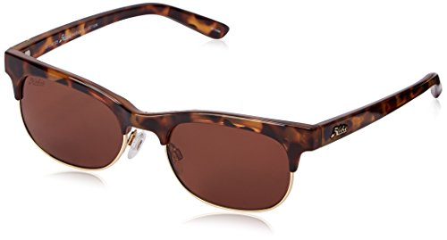 Hobie Women's Hailey Polarized Round Sunglasses, Shiny Leopard Tortoise & Shiny Light Gold, 52 - Sunglasses Avalon