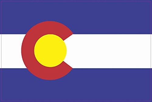 - StickerTalk 6in x 4in Colorado State Flag Bumper Sticker Decal Vinyl Window Stickers Decals