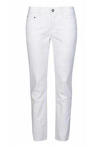 Laura Scott Pants Donna 7/8 Jeans Destroyed White