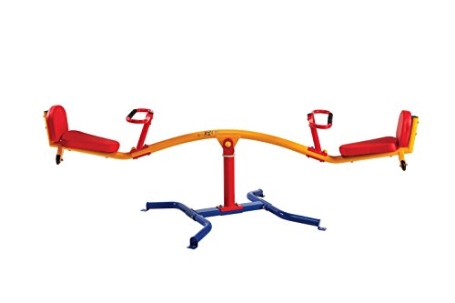 Metal Ground Plane - Gym Dandy Spinning Teeter Totter - Impact Absorbing Kids Playground Equipment - 360 Degree Rotation