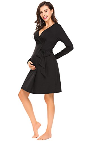maternity dress black tie - 9