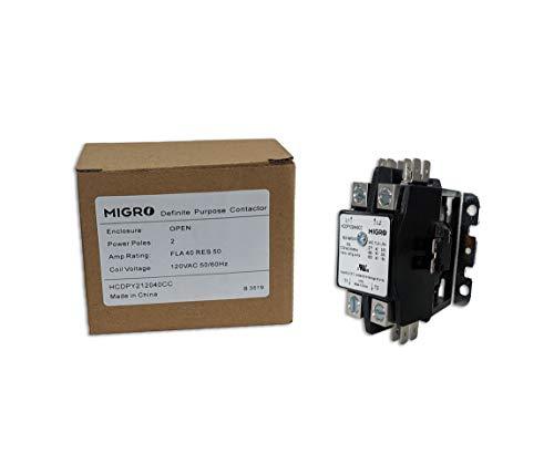 40 AMP 942120 DEFINITE PURPOSE CONTACTOR 2 Pole 120VAC Lighting Contactor 50A NEMA