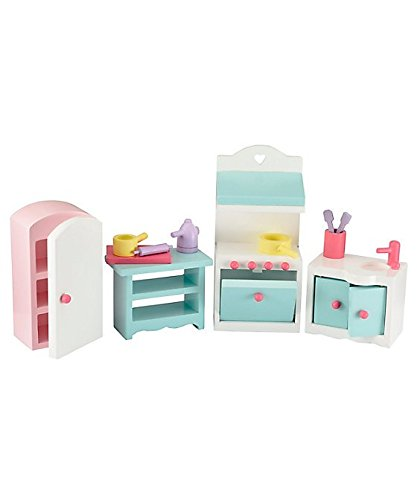 Rosebud Village Country Kitchen Set a Beautiful Toys for Girl Furniture set to create a pretty kitchen room for your Rosebud house Jefs