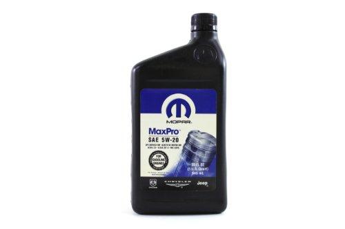 Genuine mopar fluid 4761872ad sae 5w 20 mopar engine oil for Sae 20 motor oil