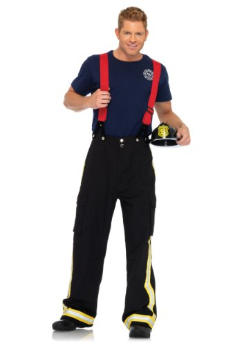 Leg Avenue mens Mens Fire Captain Costume Small/Medium