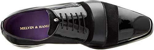 amp; Hamilton Suede Noir Derbys Black 7 Patent Soft Elvis 29 Melvin Crust Pattini 1 Homme 5 dqfan51dw