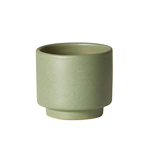 Earthenware Planter - The Sill Ceramic Planter | Prospect Indoor Pots for Plants | Earthenware Cylinder Planter for Small Plants and Flowers | Mini, 3 ½ x 4 inches, Sage