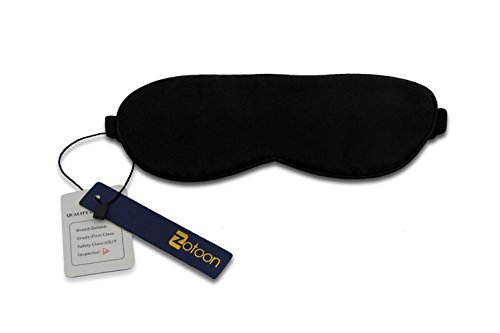 Zotoon Silk sleep mask,THE #1 Rated Sleeping Masks For Women and Men,100% Pure Silk Eye Mask For Sleeping,Black,One Size