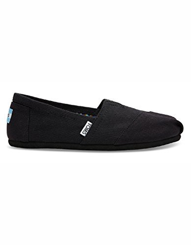 Toms Women's Classic Canvas (Black,On,Black) Slip-on Shoe - 9 B(M) -