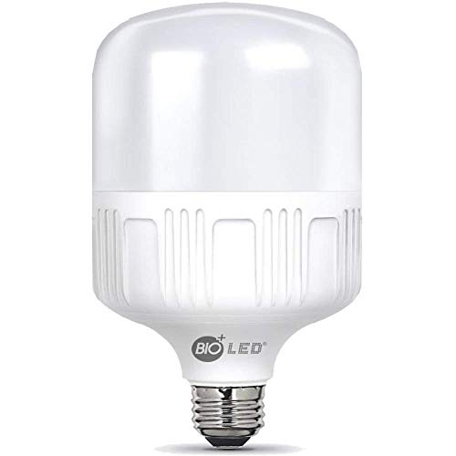 Bioled 50W, E27, Warm White(3200K), 500 Watt Equivalent, LED Light Bulbs, IP40 Dustproof& Humudity Proof Light Bulbs, Commercial&Residental Bright LED Bulb, Shop Light, Garage Light, Home Light