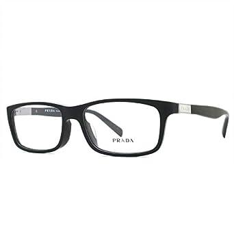 b0f857df8bc06 Prada Eyeglasses PR02OVA Asian Fit 1BO1O1  Amazon.co.uk  Clothing