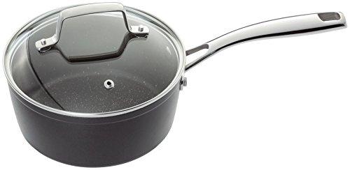 "Stellar Rocktanium Non Stick Quantanium Saucepan Sauce Pan With Vented Glass Lid 18cm 7"""