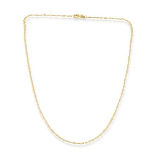 585er Goldkette: Singapurkette Gold 45cm BIN-1058