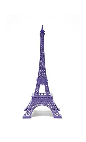 Merci Gustave, diseño de Torre Eiffel, color morado: Amazon.es: Hogar