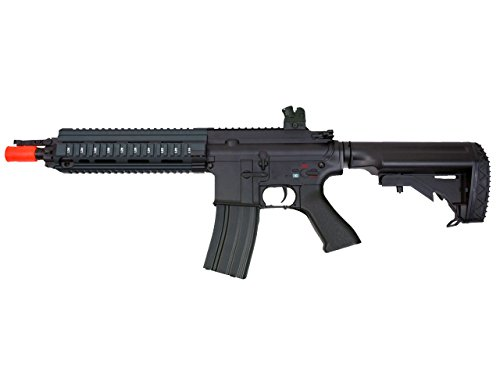 MetalTac JG FB-6621 614 Electric Airsoft Gun with Rail Mounting System, Full Metal Body, Metal Gearbox Version 2, CQB Auto AEG, Upgraded Powerful Spring 410 Fps with .20g BBs (Mounting Rail System)