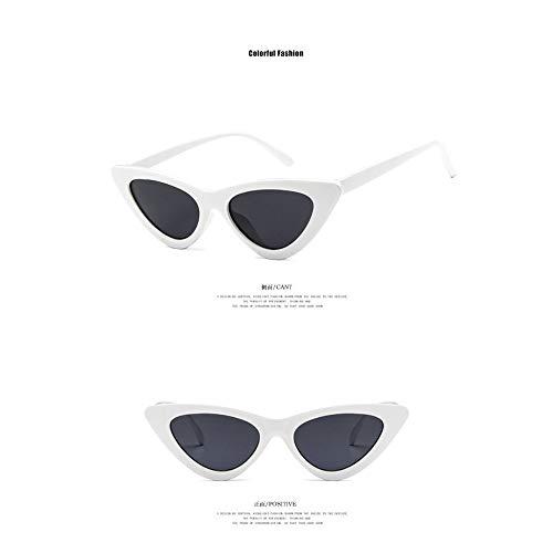 Mouchao Lunettes de Soleil triangulaires Cat Eye Enfants Uv400 Gar/çons Filles Lunettes de Soleil Enfants Blanc