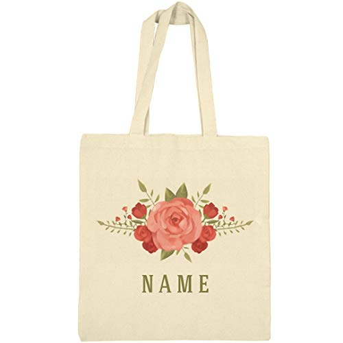 Custom Floral Rose Spring Flowers: Canvas Bargain Tote Bag]()