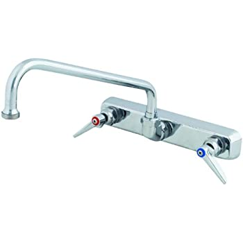 ts brass b1128 workboard wall mount faucet with swing nozzle chrome - Ts Brass