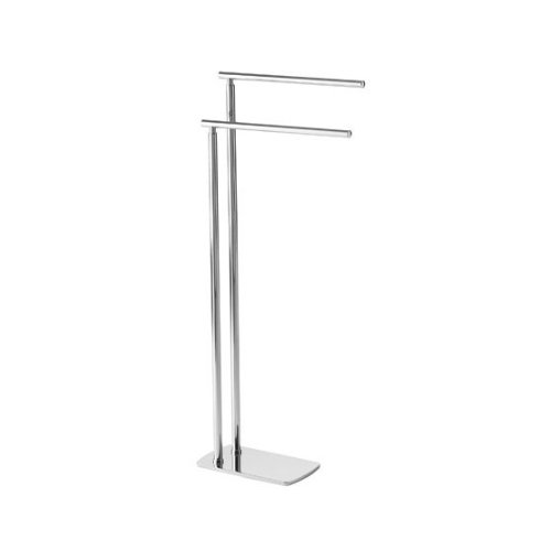Gedy Florida Floor Standing Double Towel Rack, Chrome by Gedy